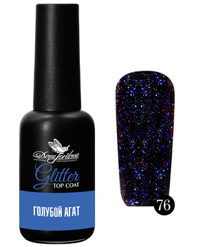 Dona Jerdona Glitter Top Coat Голубой агат №76