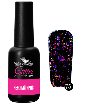 Dona Jerdona Glitter Top Coat Нежный ирис №75