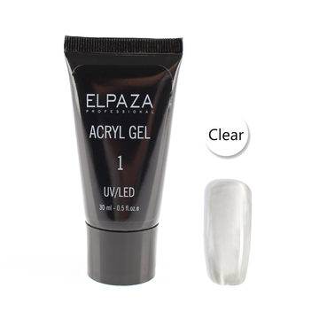 Полигель Elpaza UV/LED Acryl Gel 01 clear 30 мл